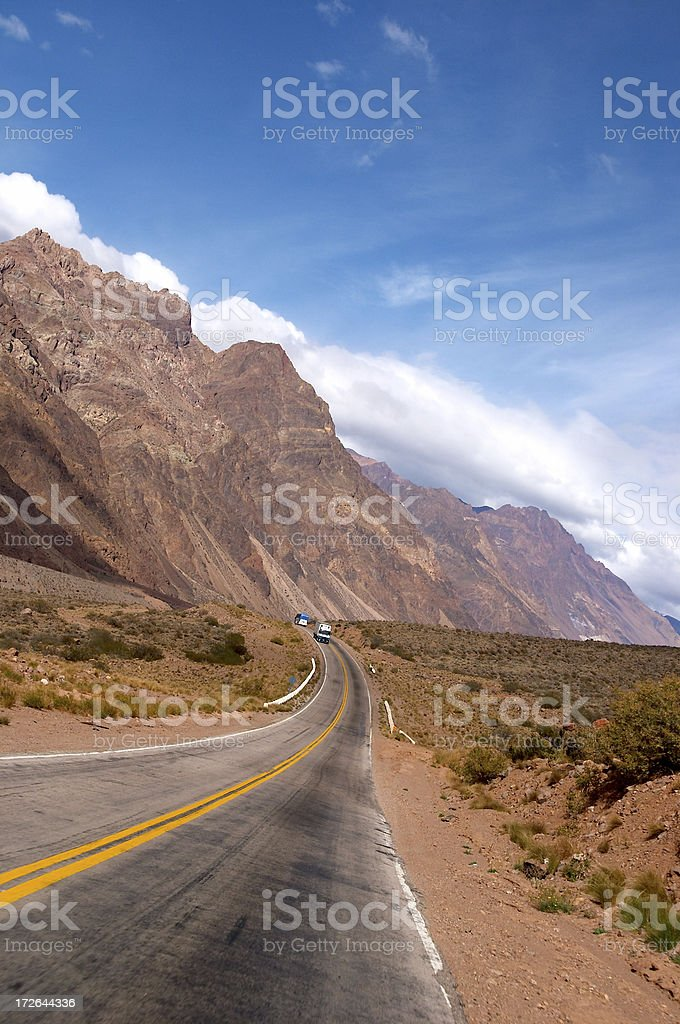 Road in the Andes, South america royalty-free stock photo