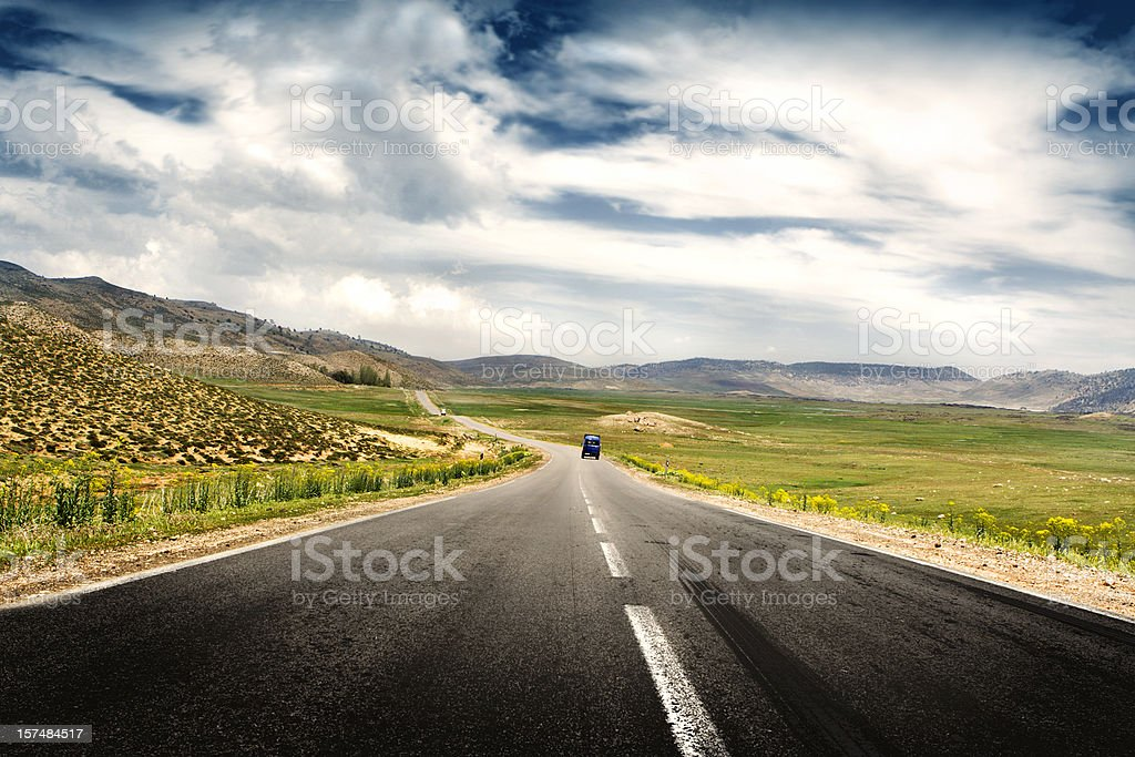 Road in the Country stock photo