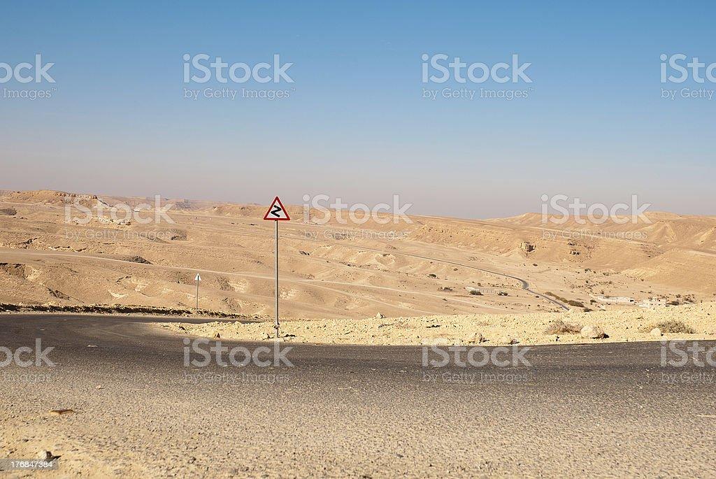 Road in the desert stock photo