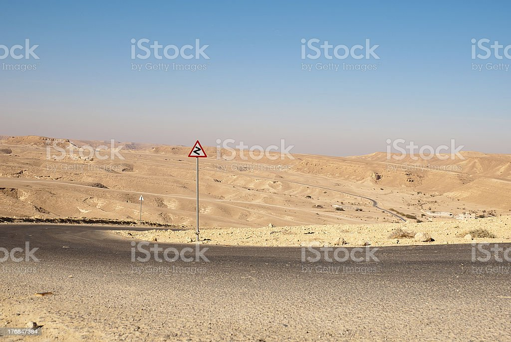 Road in the desert stock photo