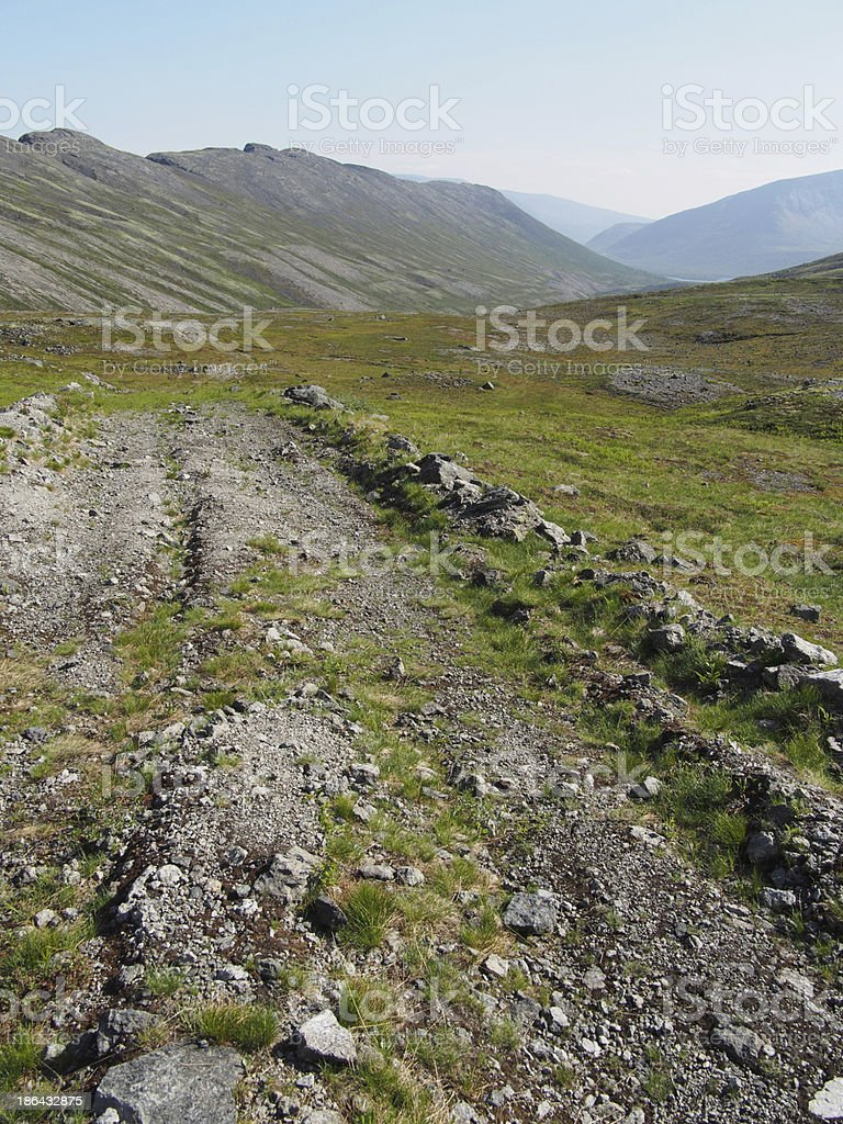 road in the mountains stock photo