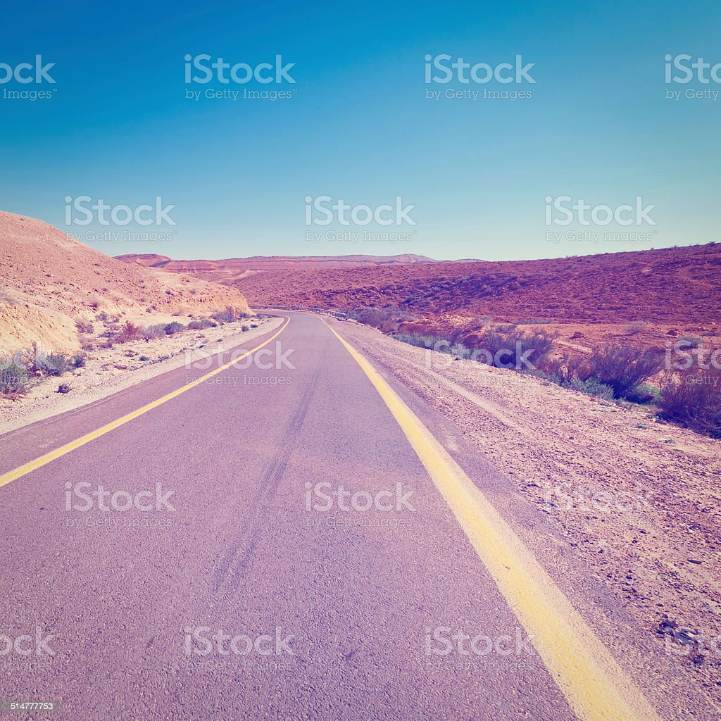 Road in the Negev stock photo