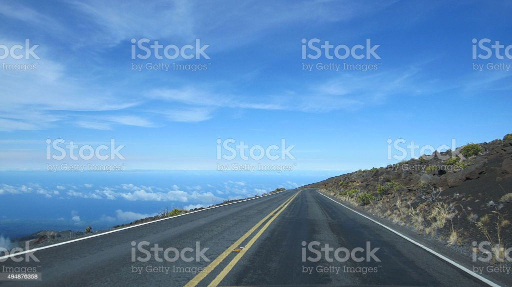 Road in the sky stock photo