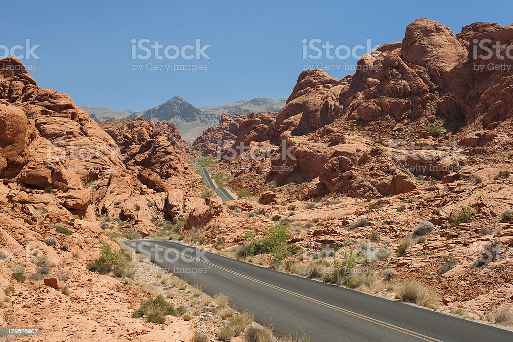 Road in the Valley of Fire royalty-free stock photo