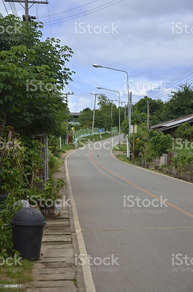 Road in the Village stock photo