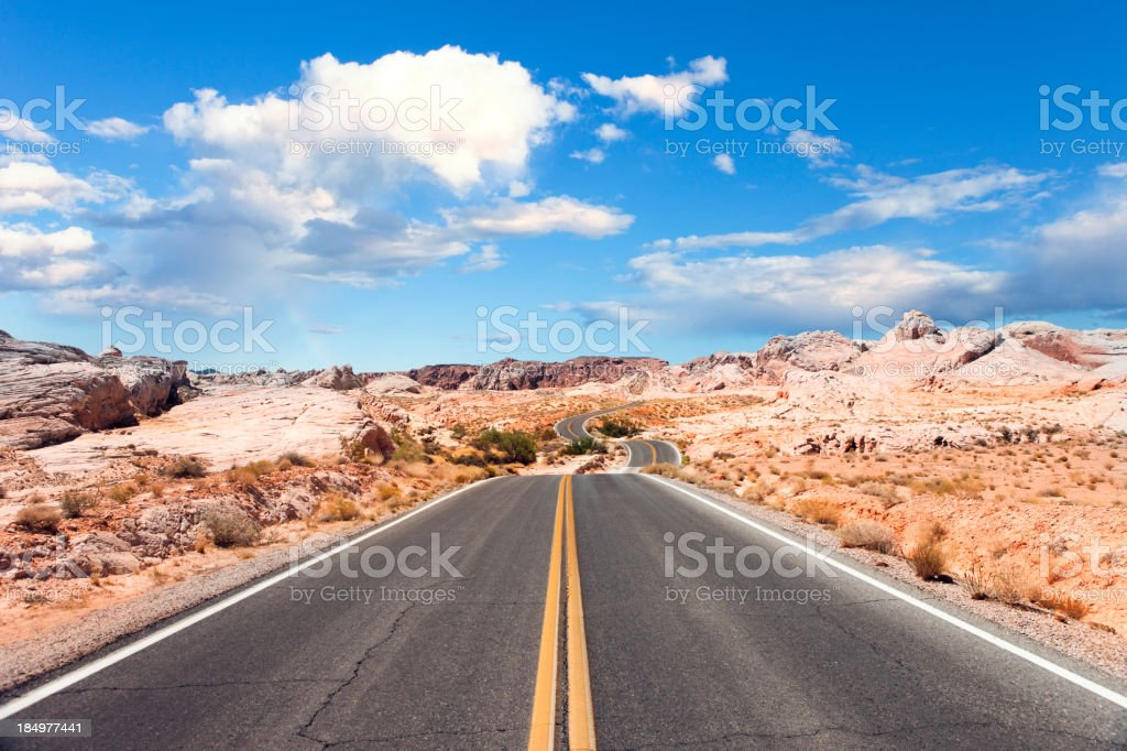 Road in Valley of Fire stock photo