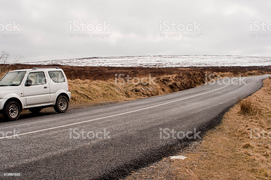 Road in Wicklow Mountains stock photo