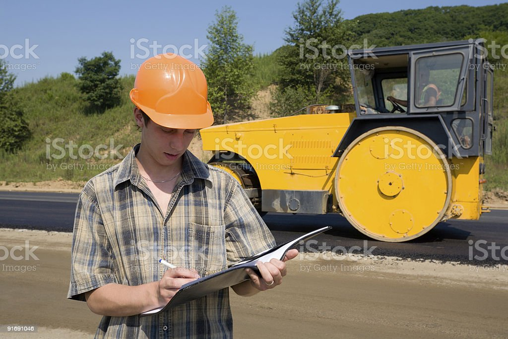 road inspector royalty-free stock photo