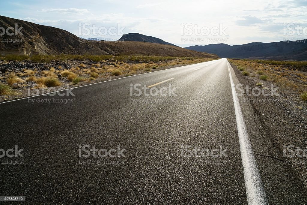 Road Into Death Valley National Park stock photo