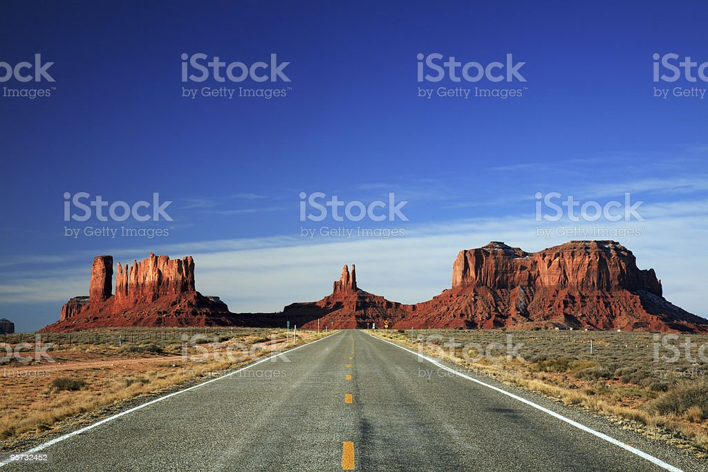 Road into Monument Valley stock photo