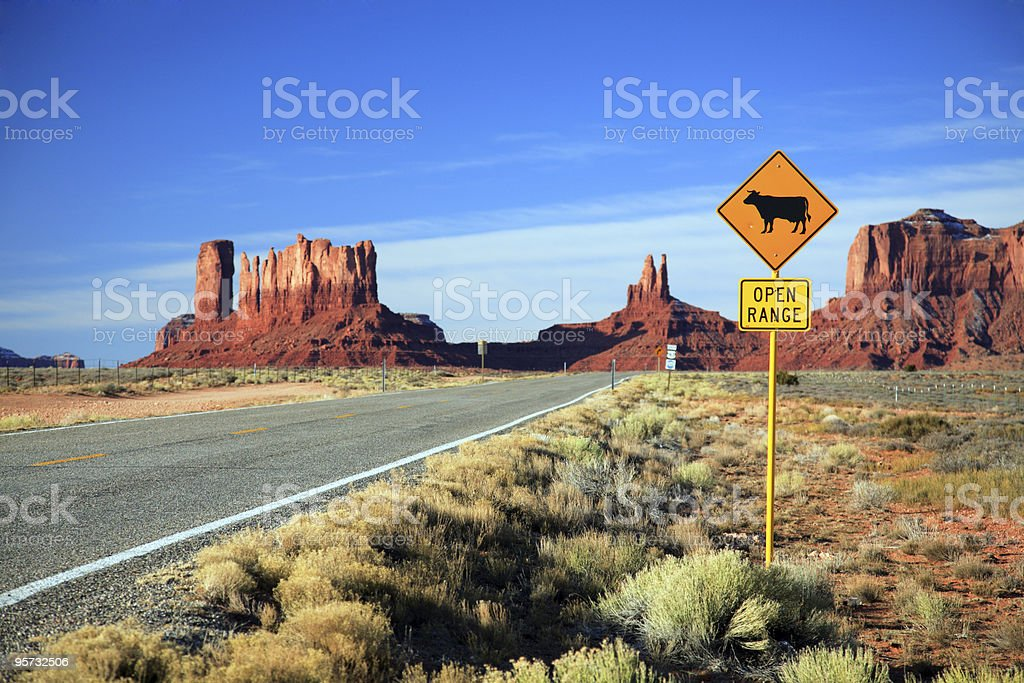 Road into Monument Valley royalty-free stock photo