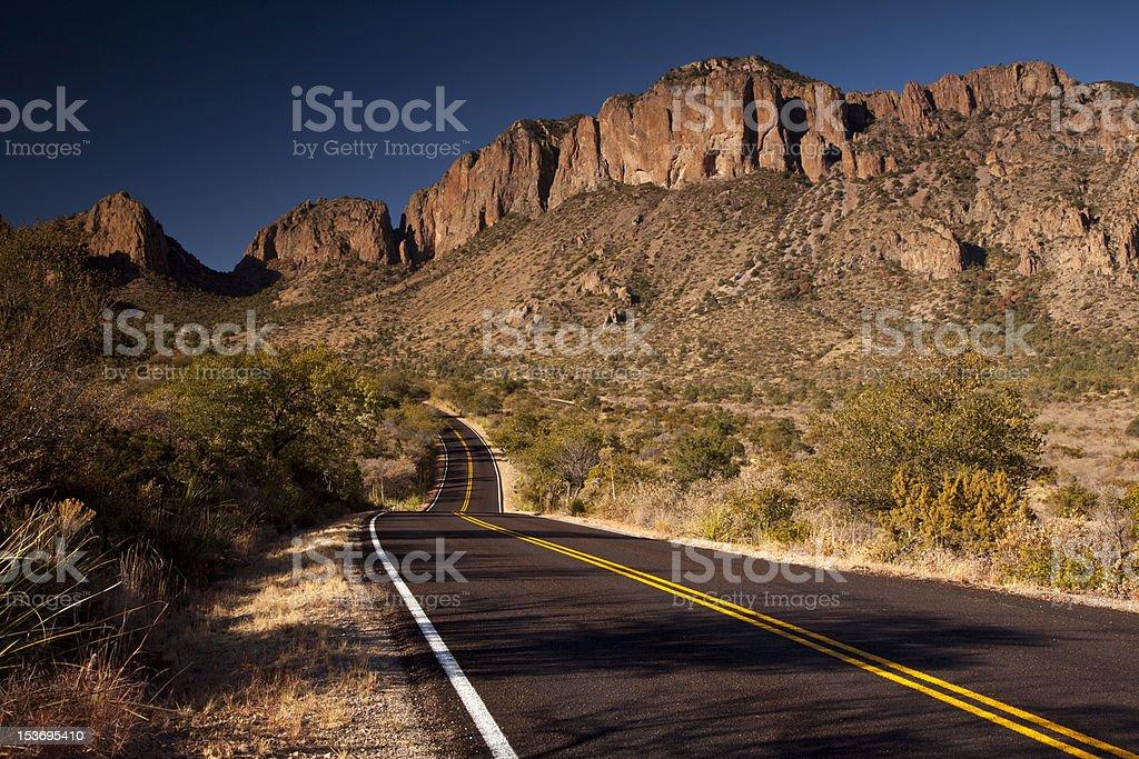 Road into Mountains stock photo