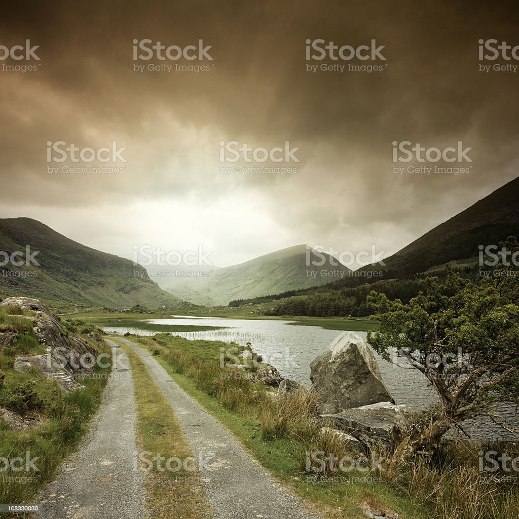 Road into the Black Valley royalty-free stock photo