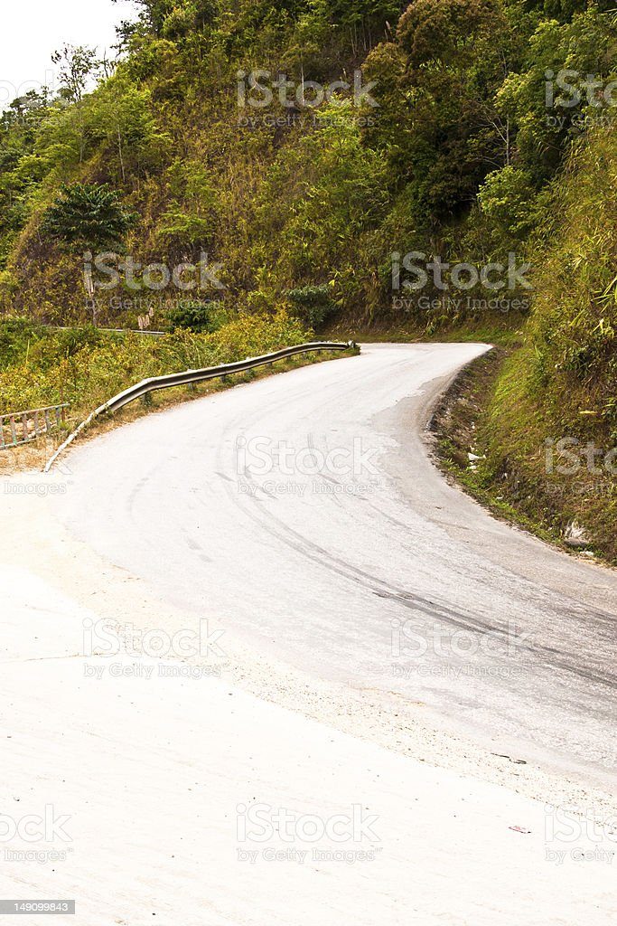 Road into Valley royalty-free stock photo