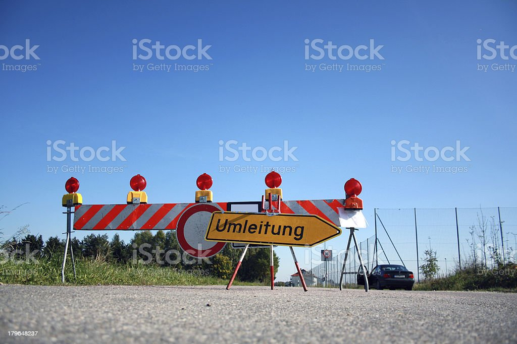 road is blocked royalty-free stock photo