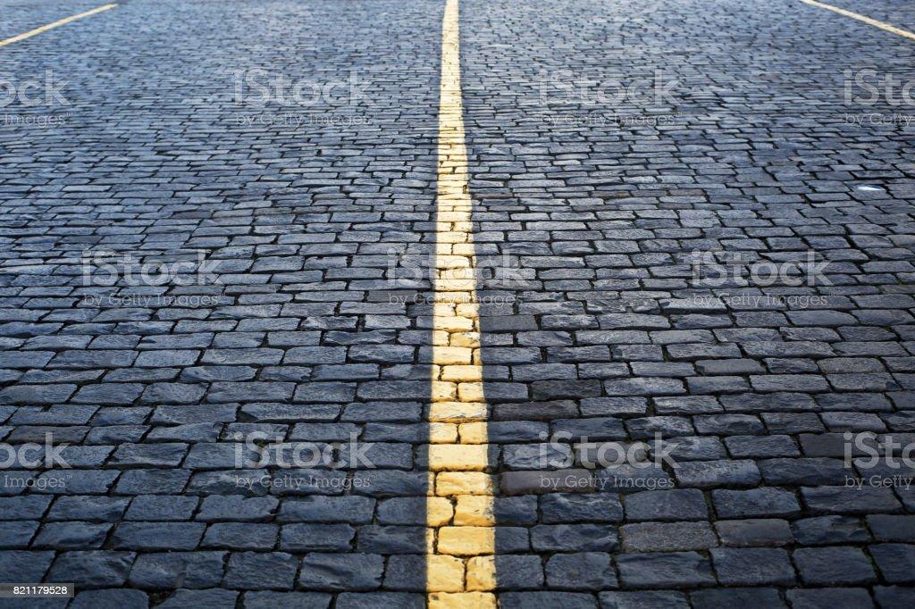 Road is concrete tiles stock photo
