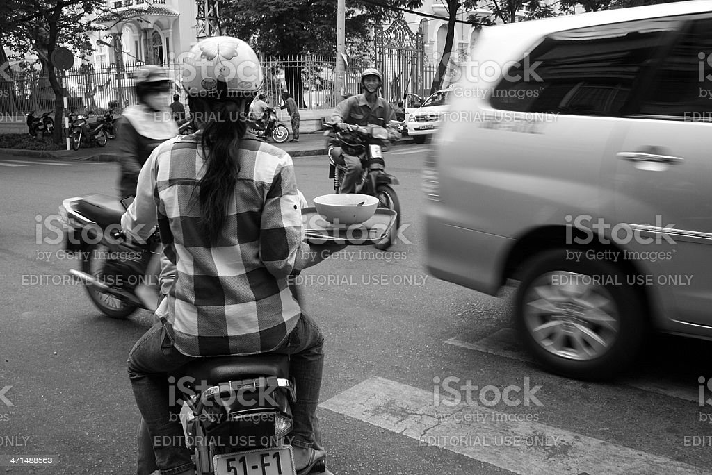 Road Junction a Ho Chi Minh City, Vietnam foto stock royalty-free