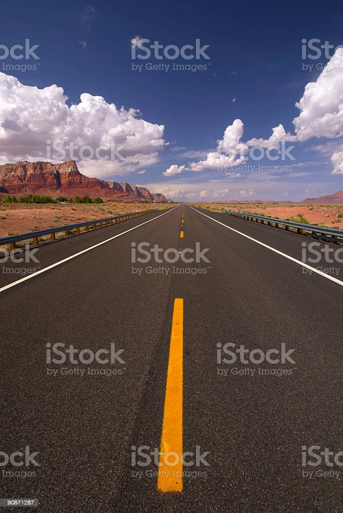 road landscape desert royalty-free stock photo