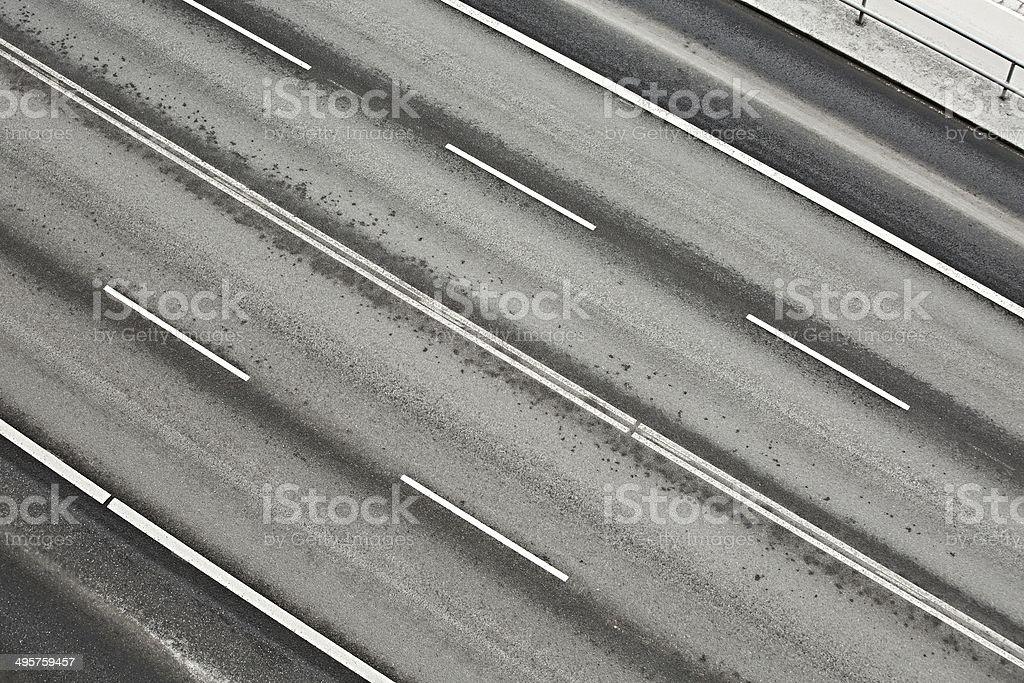 Road lanes stock photo