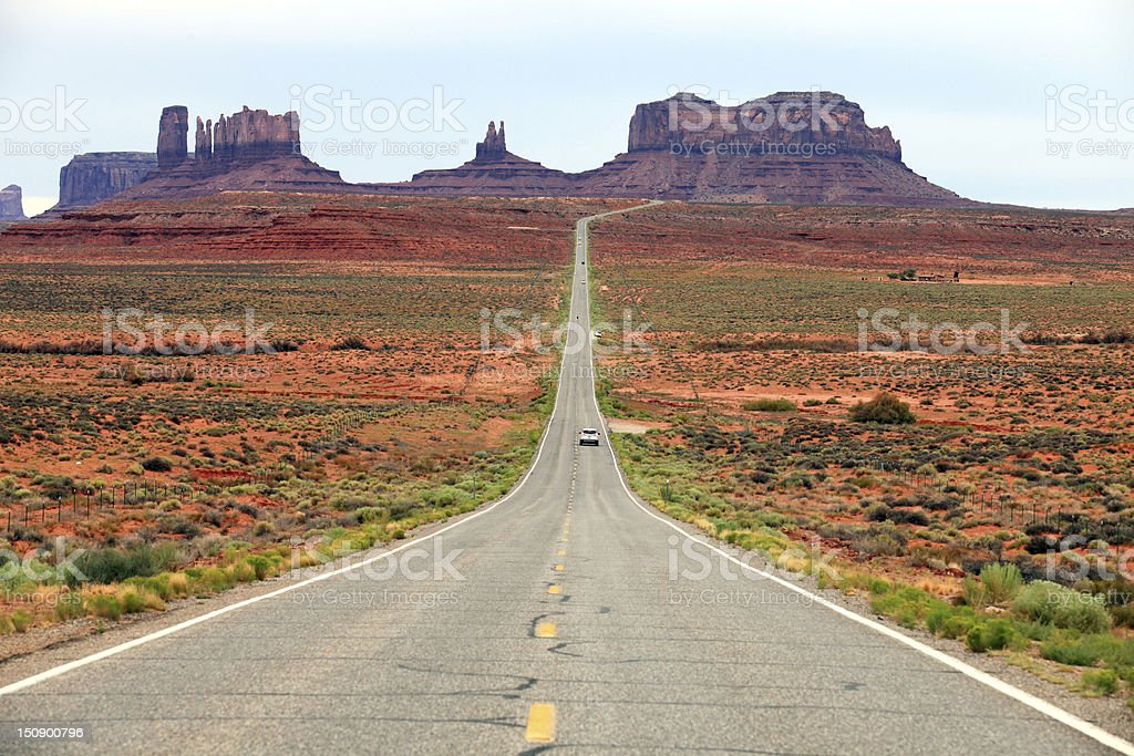 Road leading into Monument Valley royalty-free stock photo