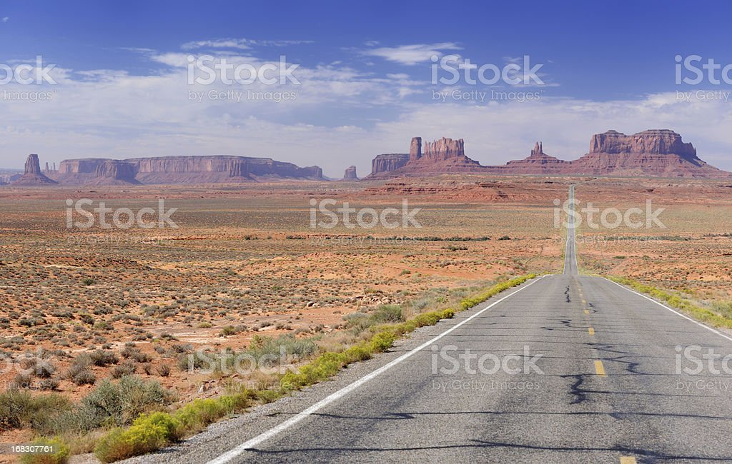 Road leading to Monument Valley (XXXL) royalty-free stock photo