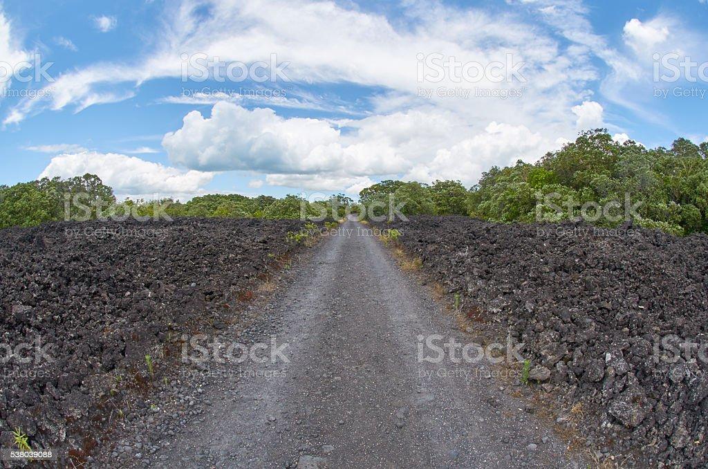 Road leading to the horizon stock photo