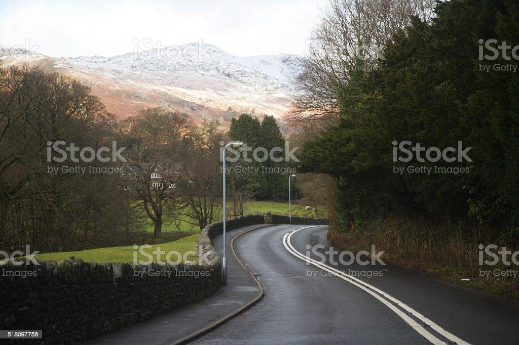Road Less Traveled stock photo