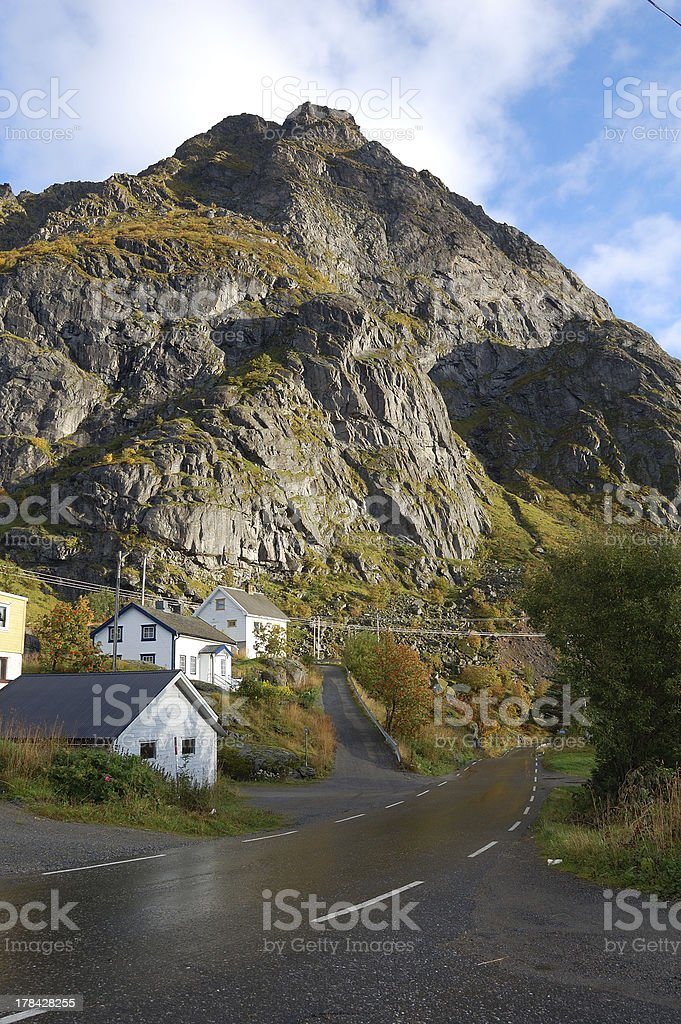 E10 Road - Lofoten Islands stock photo