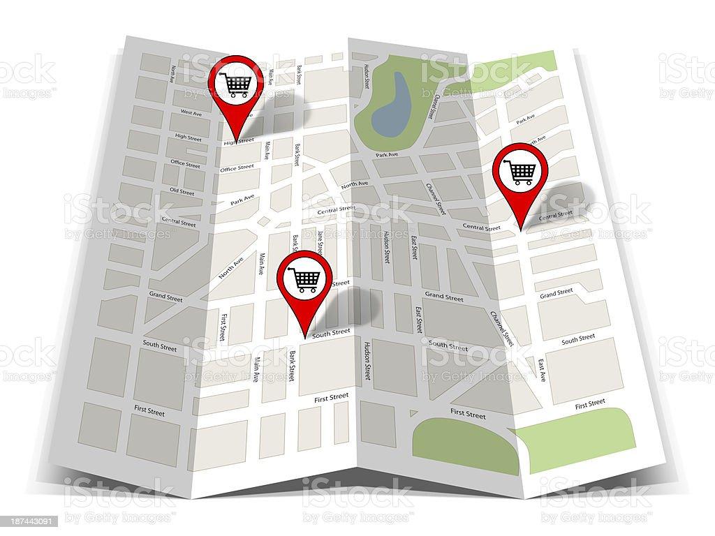 Road Map Navigation royalty-free stock photo