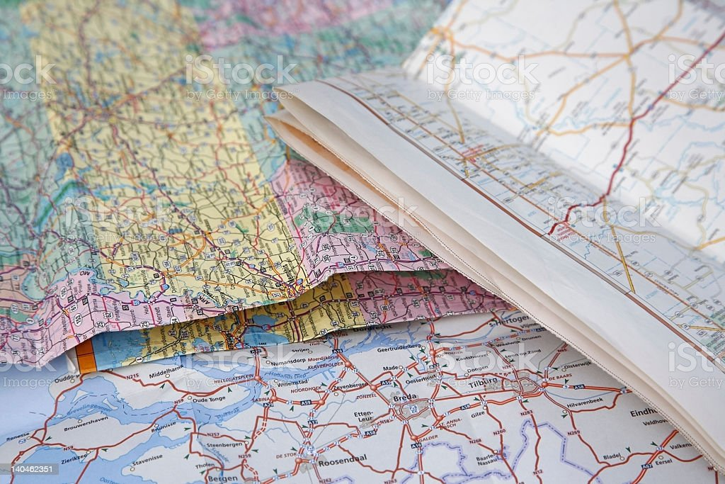 road maps royalty-free stock photo