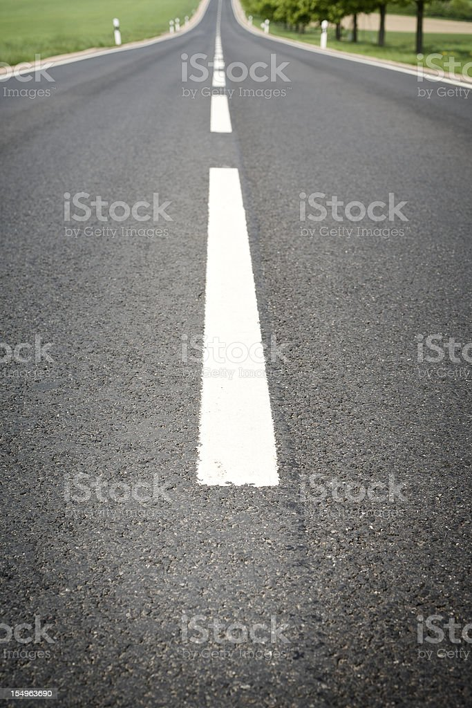 Road marker, low-angle view royalty-free stock photo