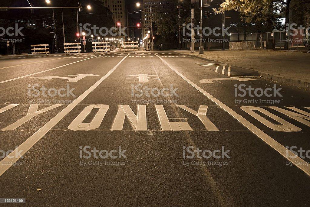 USA Road marking, arrow signs royalty-free stock photo