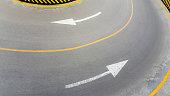 Road marking, arrow signs