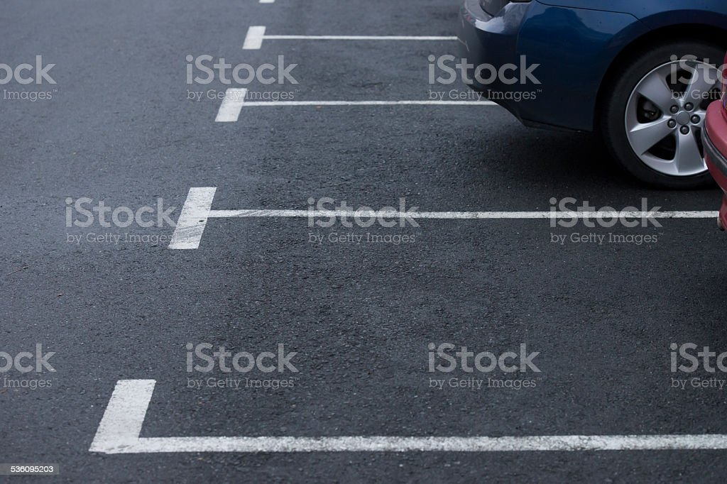 road marking parking stock photo