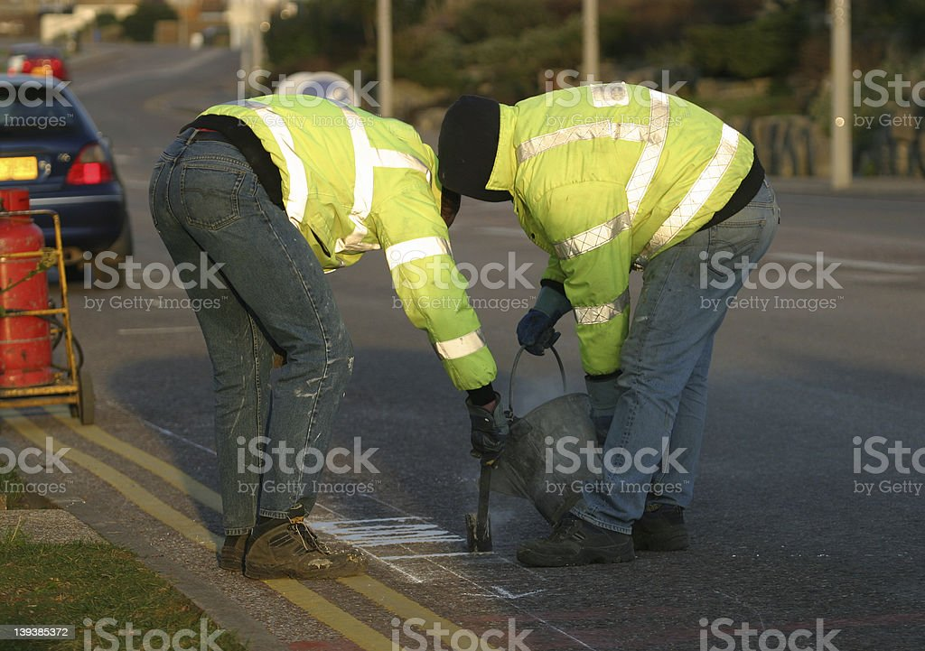Road Marking stock photo