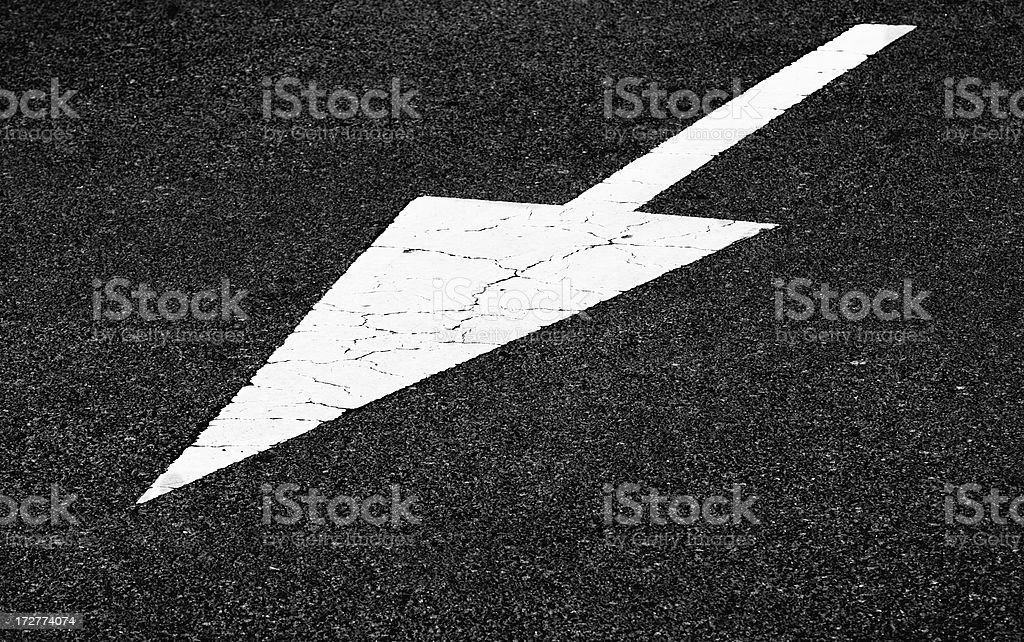 Road Marking (Arrow Pointing Sideways) royalty-free stock photo