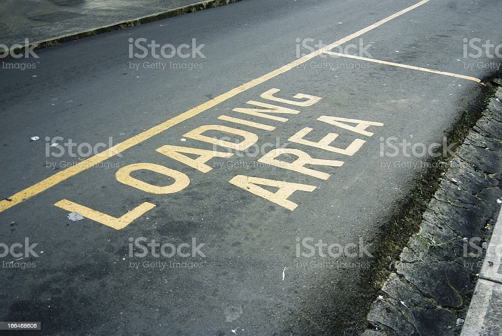 """road marking sign """"loading area"""" royalty-free stock photo"""