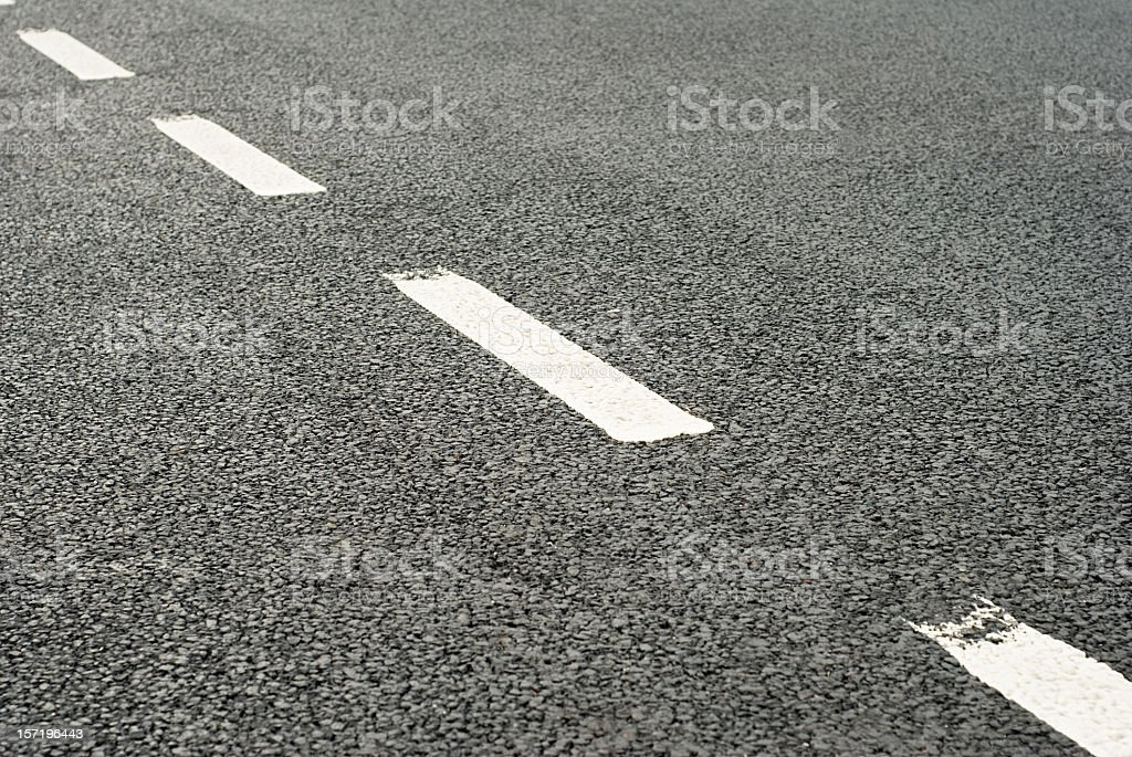 Road Markings: Dividing Line stock photo