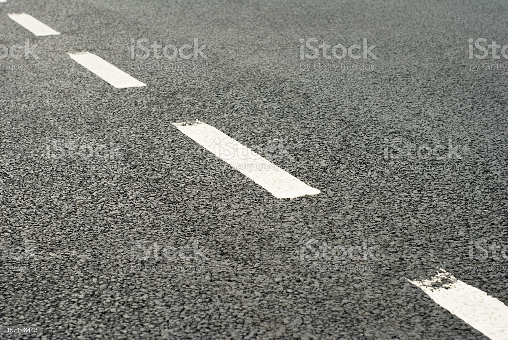 Road Markings: Dividing Line royalty-free stock photo