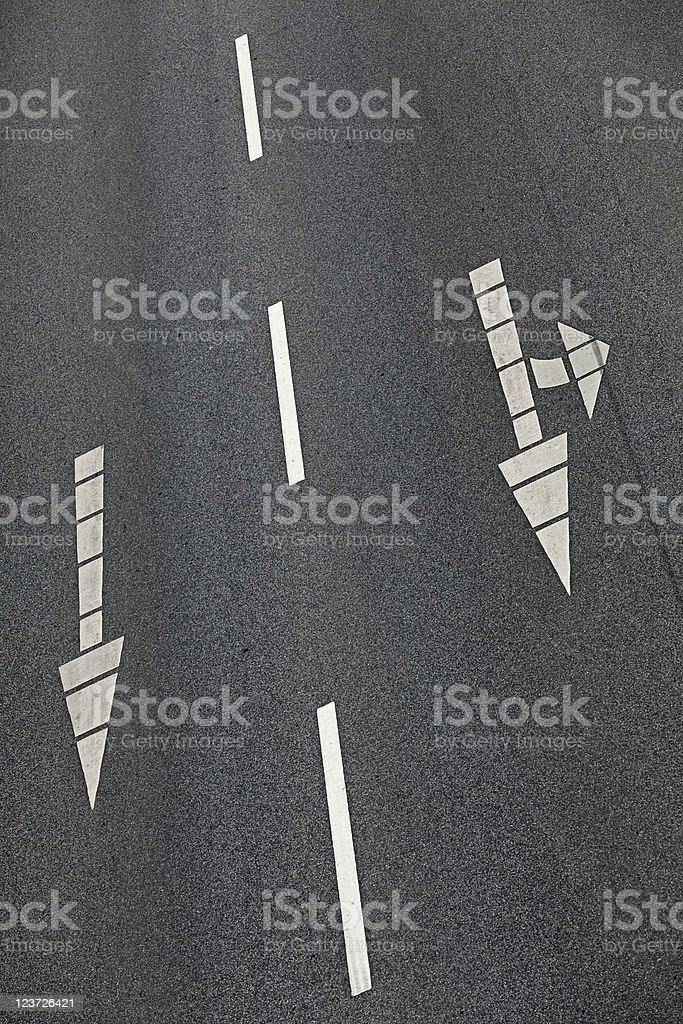 Road markings stock photo