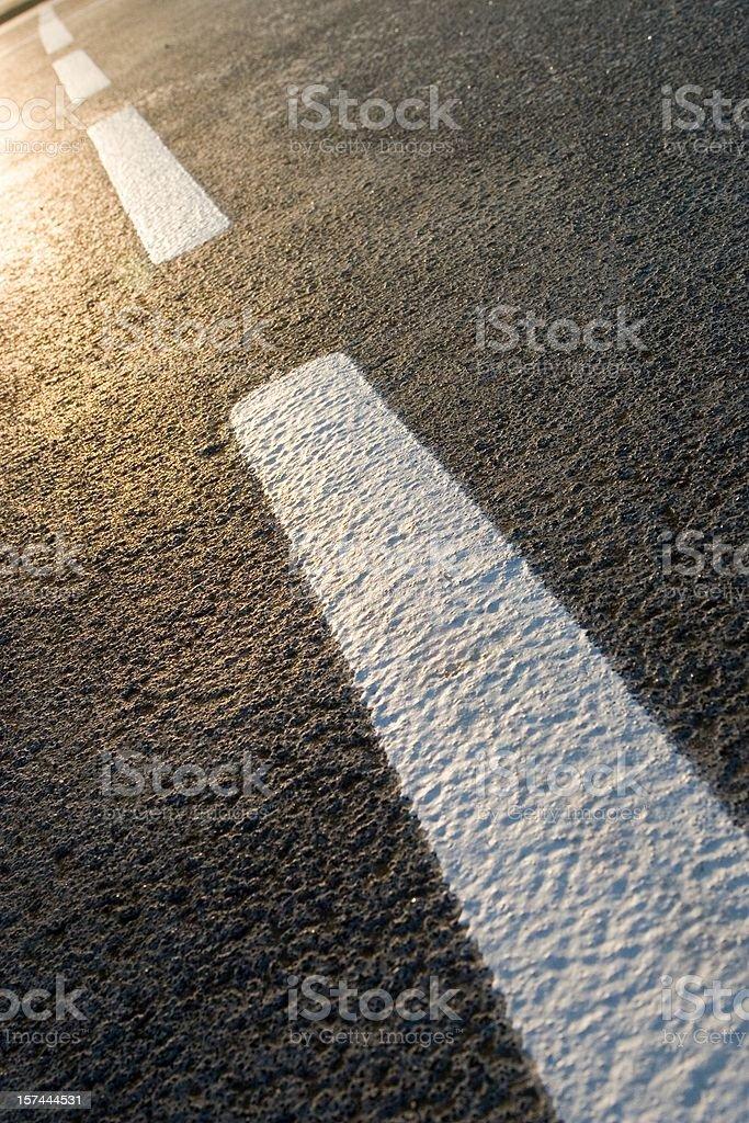 Road Markings royalty-free stock photo