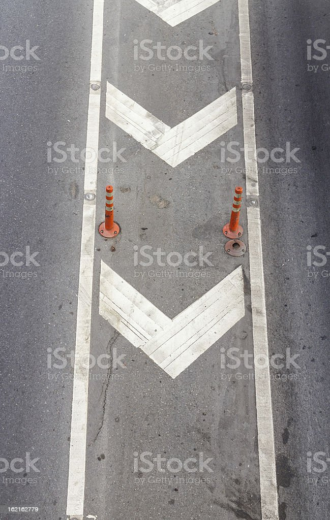 Road markings royalty-free stock photo