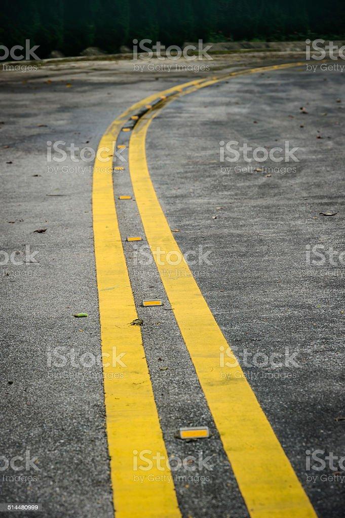 road metal stud stock photo