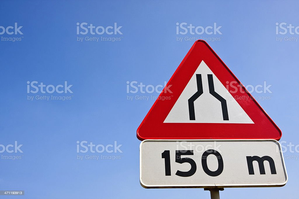 Road narrow sign # 1 royalty-free stock photo