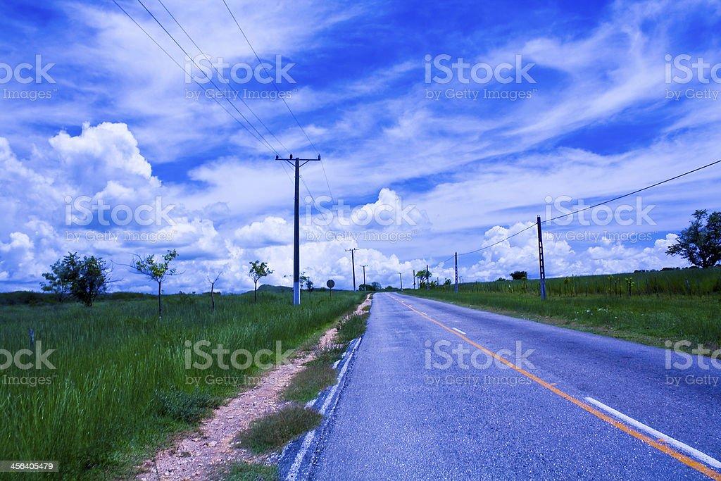 Road near Trinidad, Cuba royalty-free stock photo