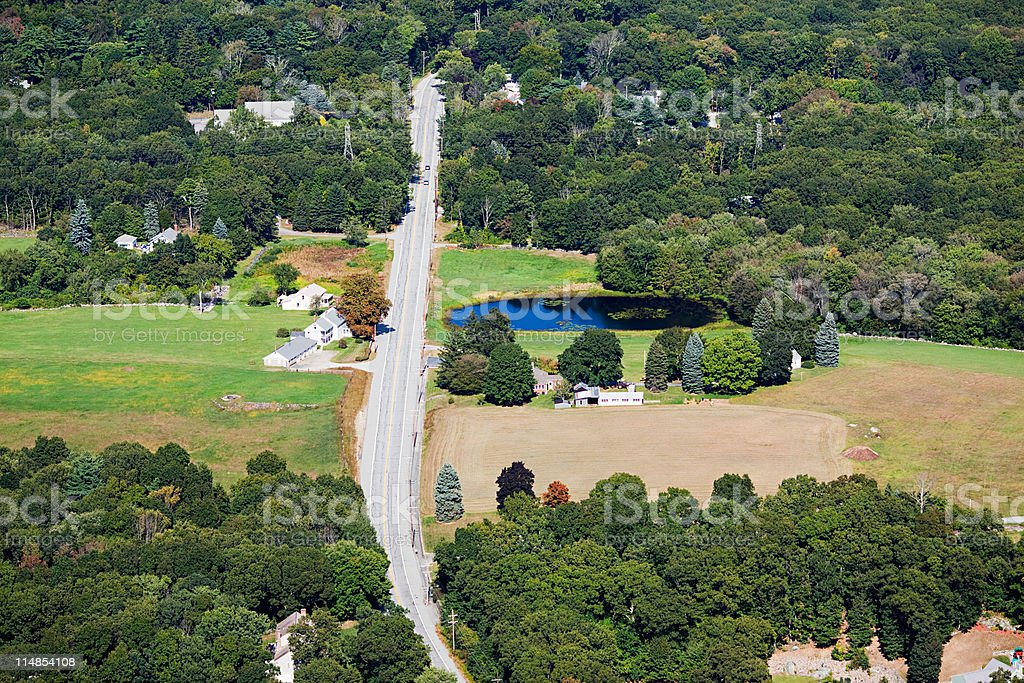 Road, Newport County, Rhode Island, USA stock photo