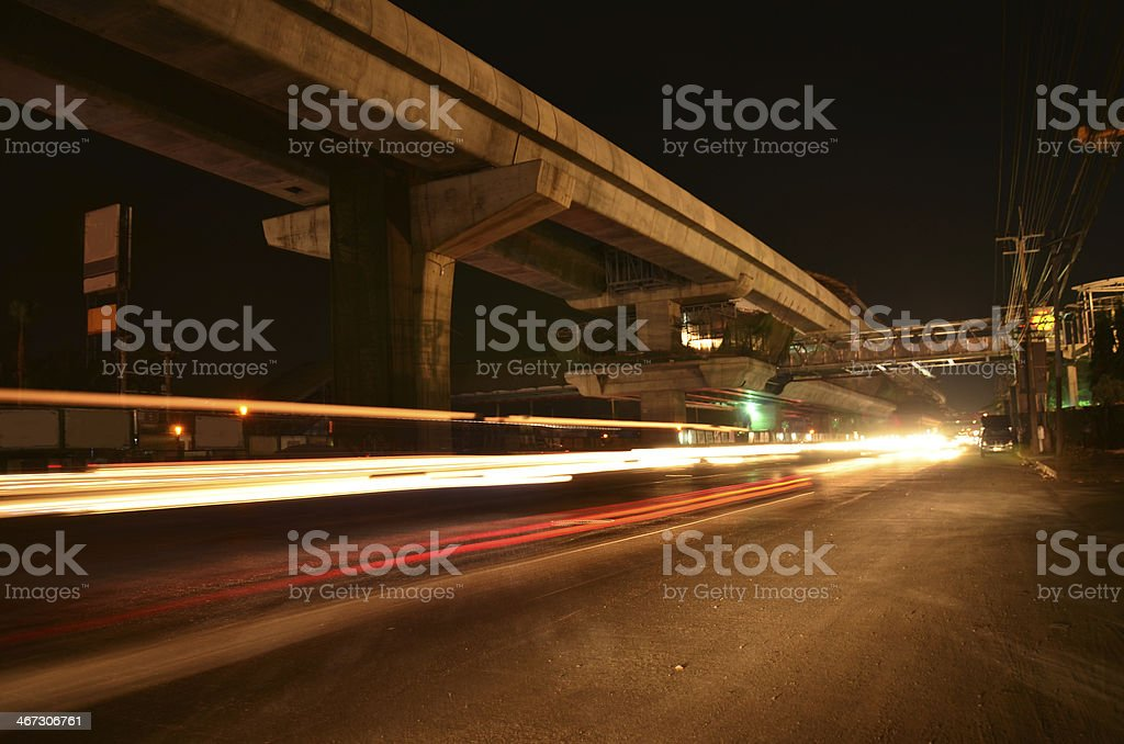 Road night time stock photo