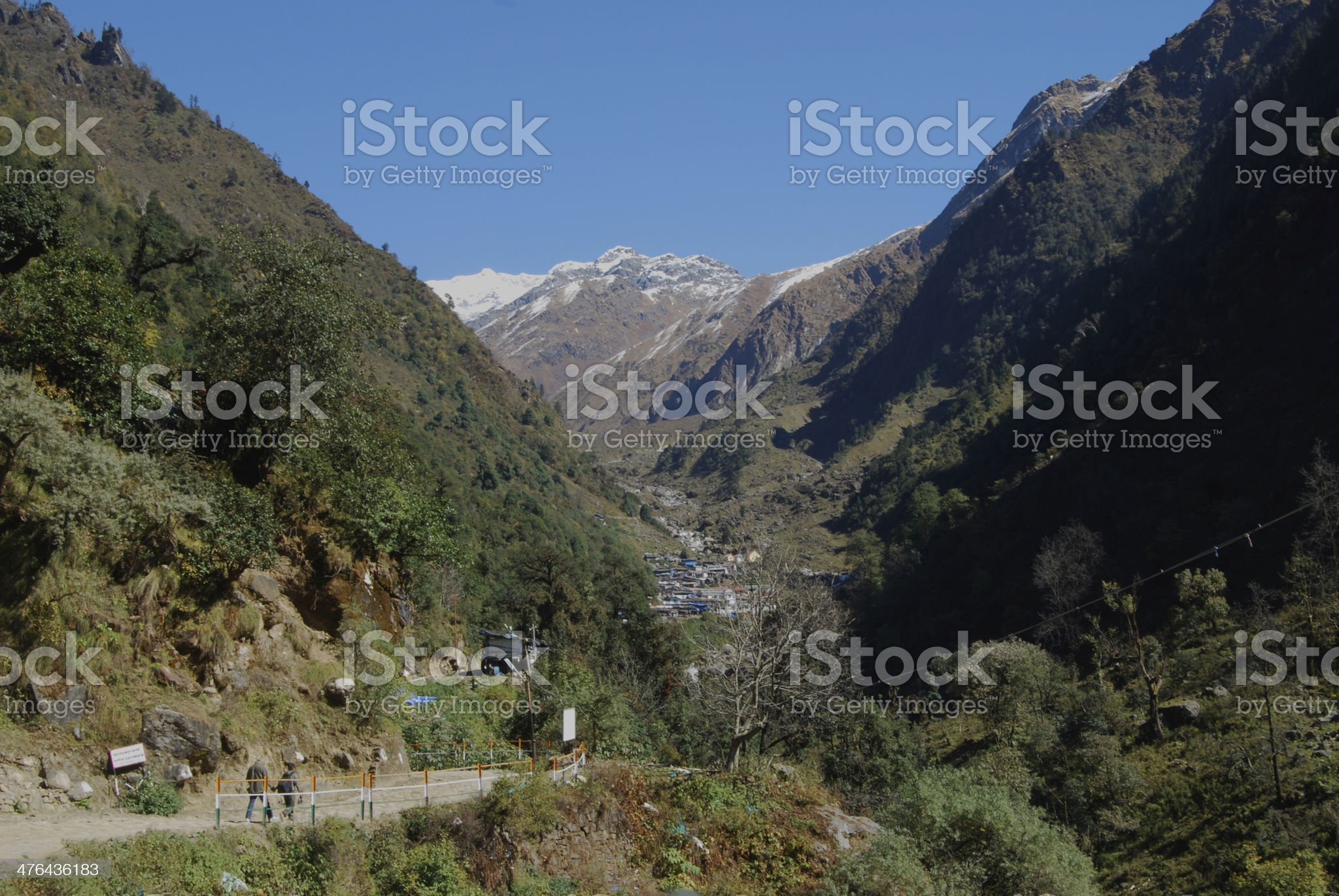 Road of Kadernath temple royalty-free stock photo