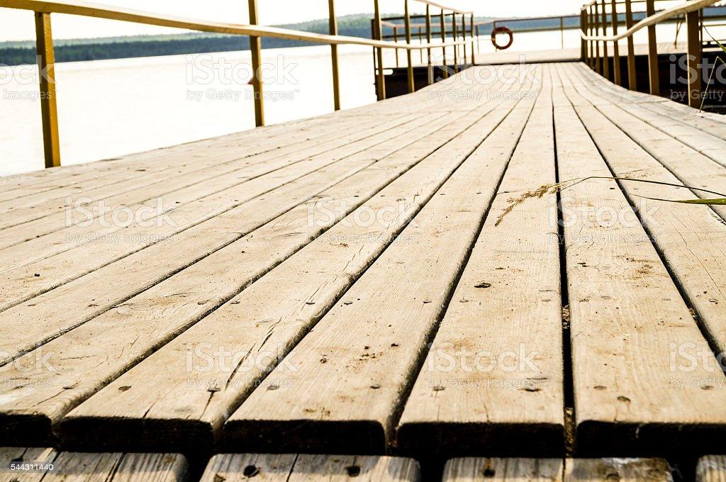road of planks, pier stock photo