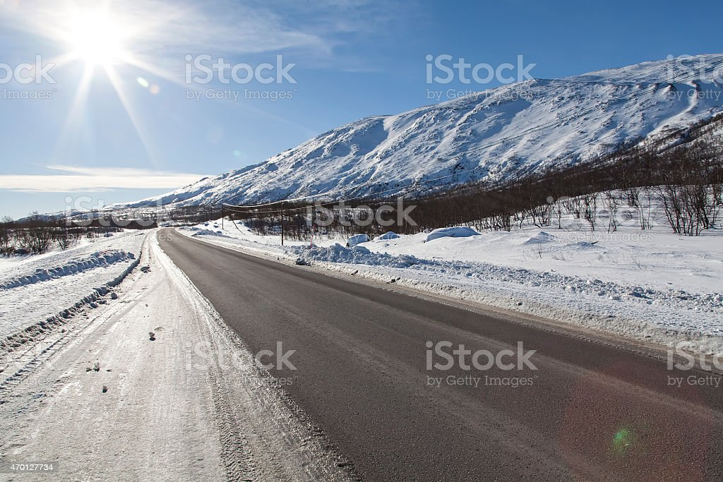 Road of Sunshine royalty-free stock photo